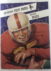 1952 San Francisco 49'ers vs. Chicago Bears Game Program , Excellent Condition!