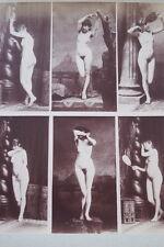 CALAVAS ETUDE DE NUS  TIRAGE ALBUMINE ALBUMEN VINTAGE PRINT 1880 PEINTURE ref16