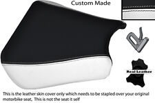 Black & white 00-01 custom fits honda cbr 900 coureur devant housse siège en cuir