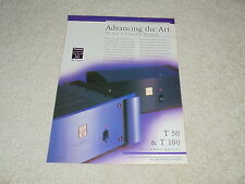 Threshold Ad, 1994, T50, T100 Amplifiers, Article, 1 pg