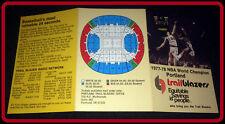 1977-78 PORTLAND TRAIL BLAZERS EQUITABLE SAVINGS BASKETBALL POCKET SCHEDULE