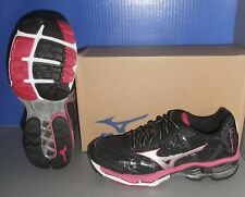 WOMENS MIZUNO WAVE CREATION 16 in colors BLACK / SILVER / ROSE SIZE 7.5