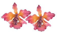 Joan Rivers Orchid Pierced Earrings in Original Box