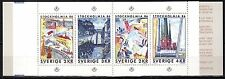 Sweden - 1985 Stamp exhib. Stockholmia / Paintings - Mi. 1336-39 / MH 107 MNH