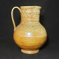 Linda Sikora Wheel Thrown Wood Fired Pitcher Pottery Ceramic Studio Handcrafted
