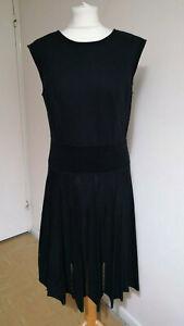 Marc Cain Virgin Wool Black Flare Dress N6 UK 18