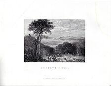 "Antiguo galés Impresiones - ""Dyffryn Tywi"" - Radclyffe acero grabado (1872)"