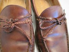 Stubbs Wootton Mens Size 10 D Brown Leather Tassel Slip On Loafers Orig $595 USA