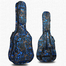 """40"""" Waterproof Oxford Guitar Gig Bag Double Padded Carrying Classic Folk - Blue"""