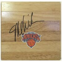 Mike Woodson N.Y. Knicks Autograph Signed Basketball Floor Board Exact Proof COA