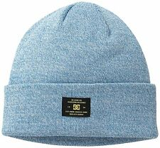 Mens DC Shoes Label Logo Beanie Snow Winter Snowboard Hat Faience