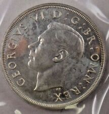 1937 Great Britain UK Half Crown Silver Coin In Cello Packaging