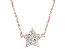 Amour Diamond Clustered Star Necklace in 14k Rose Gold