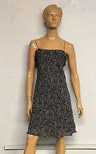 Ralph Ralph Lauren Black Floral Spaghetti Straps Black Green Label Dress Size L