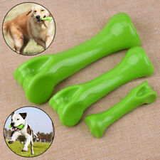 Green Indestructible Dog Chew Toy Bone fit for Pet Puppy Play Tooth Cleaning Hf