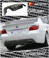 Carbon Fibre 3D Style Rear Diffuser Quad for BMW E60 E61 5-Series M Sport Bumper