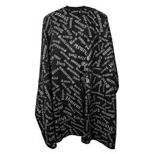 Professional City Print Barber Cutting Cape By Vincent Black Hook Closure