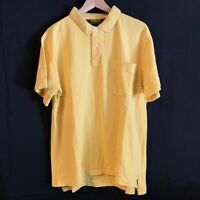 Oshkosh B'gosh Polo  Shirt Mens Yellow Sz L S/S