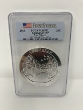 2011 National Parks 5 oz Silver Chickasaw PCGS MS68PL FIRST STRIKE