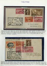 Philippines Pair of 1935 Flown Covers to New York Scarce