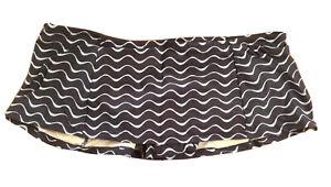 New Ann Taylor LOFT Navy Blue Wavy Print Lined Skirt Bikini Bottom Swimwear S