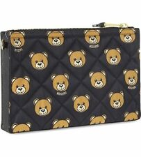 SALE! Moschino X Jeremy Scott BEAR PRINT QUILTED CLUTCH BAG SS15 READY 2 BEAR