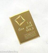 1 GRAM VALCAMBI SUISSE GOLD BAR .9999 PURE **LOWEST BIN PRICE**