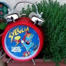orologio sveglia LUPO ALBERTO rossa band batterista drums 2 campane da tavolo
