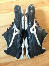 Mizuno Wave Bolt 7 Women's Volleyball Shoes size 10 Black Silver