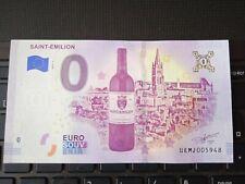 BILLET EURO SOUVENIR 2019-1 SAINT-ÉMILION