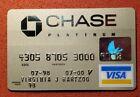 Chase Platinum Visa Credit Card exp 2000♡free ship♡cc1634♡
