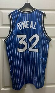 Shaquille O'Neal #32 Signed Magic Jersey Autographed XL BAS WITNESSED COA HOF
