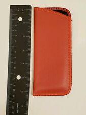 Red Soft Slip In Eyeglass Case Size Small Half Eye