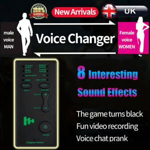 7 Different Sound Changes Voice Changer Device For Kids XBOX PS4 Phone Laptop UK