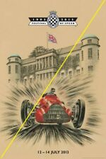 GOODWOOD FESTIVAL OF SPEED A4 WALL ART REPRO POSTER  2013 F1
