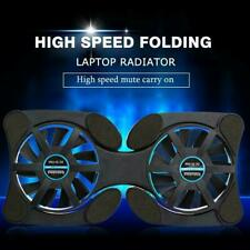 Foldable Mini Notebook Cooler Laptop USB Double Cooling Stand Computer Pad L5V6