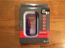 SanDisk Sansa Fuze+ 8GB MP3 Player w/ MicroSDHC Card Slot (Purple) - New