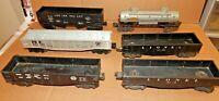 Lionel (Lot Of 6) Post War O Gauge Model Train Cars