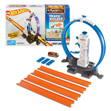 Hot Wheels Track Builder System LOOP LAUNCHER PLAYSET & Car Toy Mattel Official