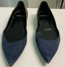 Pierre Hardy Blue and brown Leopard Printed Flats- Size 39 No Box