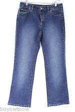 MK Michael Kors Womens Jeans Bootcut SZ 8  28  30x32 Top Sticthing Indigo
