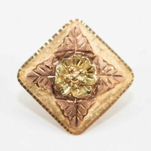 Black Hills Gold Bolo Slid Pendant 10K - 12K Rose+ Yellow Gold