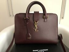 Saint Laurent monogramme cabas  ysl burgundy bag