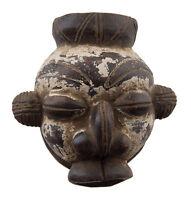 Maschera Diminutivo Africano Passaporto Miniatura Terra Cotta Divinatorio 6470