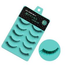 5 Pairs Nature Short Cross Makeup Handmade Beauty False Eyelashes Eye Lashes L12