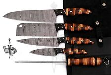 WP-007 Custom Handmade Damascus Professional kitchen Chef knives set-5-Piece