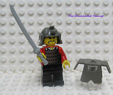 Lego Ninja Old Samurai Minifig Sword Armor Katana - from 3345 - New