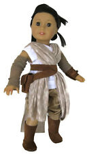 """Galactic Warrior Rey Costume for 18"""" American Girl Doll Clothes Halloween"""