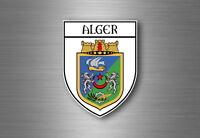 Autocollant sticker voiture moto blason ville drapeau ecusson alger algerie