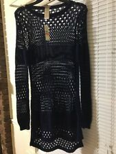 NWT Tommy Bahama Swimsuit Cover Up Beach Sweater Dress Navy Blue  Sz Xsmall